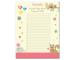 baby shower sign in best images of free printable baby shower sign in sheet aiyin