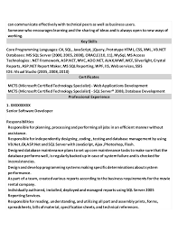 Web Services Experience Resume Resume Samples For Experienced Professional
