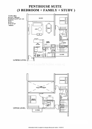 the venue residences floor plan penthouse 3 study