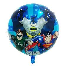 birthday balloons delivery for kids 45 45cm justice league hydrogen balloon superman 18 inch