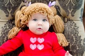 Homemade Cabbage Patch Kid Halloween Costume Cabbage Patch Hat