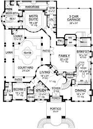 central courtyard house plans luxury house plan with central courtyard 36246tx architectural