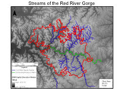 Red River Gorge Map Mapping Areas Susceptible To Intrusion By Nonnative Invasive