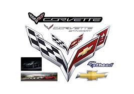 corvette crossed flags wall decal shop fathead for general
