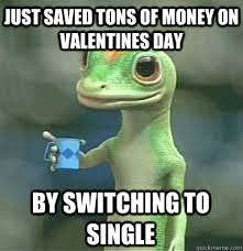 Single Meme - just saved tons of money on valentines day by switching to single