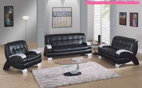 Black Leather Living Room Furniture Sets Black Living Room Furniture