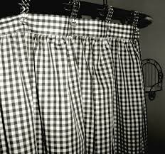 Black And White Checkered Curtains Black And White Gingham Check Fabric Shower Curtain