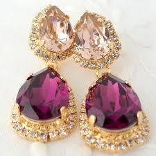 purple gold chandelier earrings thesecretconsul com