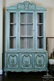 China Cabinet Buffet Hutch by Hand Painted French Provincial Buffet U0026 Hutch China Cabinet By