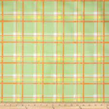 oilcloth scottish plaid green discount designer fabric fabric com
