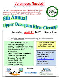Occ Map 8th Annual Upper Occoquan River Cleanup Event Local News