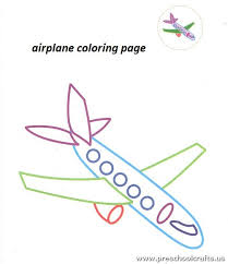 printable airplane coloring pages for preschool preschool crafts