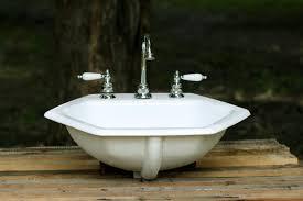 antique cast iron bathroom sink rectangular undermount bathroom