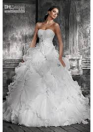 wedding dresses without straps 2012 gown chapel organza ruffle