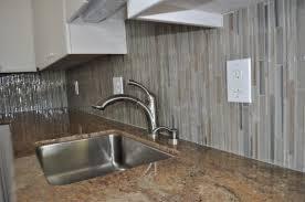 blue subway tile backsplash grey gray glass rock chevron kitchen