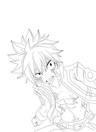 natsu dragneel lineart by advance996 on deviantart lineart