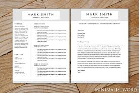 Templates For Resumes And Cover Letters Resume Cover Letter 2pack Template Resume Templates Creative