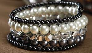 pearls bracelet diy images Colored pearl bracelets craft ideas jpg