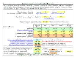 Business Valuation Excel Template Excel Business Valuation The Best Business Windows