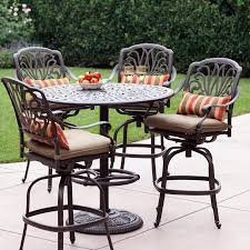 Round Table Patio Dining Sets - shop darlee elisabeth 5 piece antique bronze aluminum bar patio