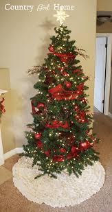 country home ruffle tree skirt