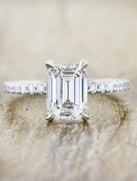 emerald cut solitaire engagement rings sybil classic emerald cut engagement ring ken design