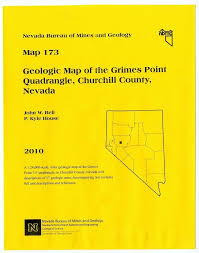 Nevada County Map Geologic Map Of The Grimes Point Quadrangle Churchill County