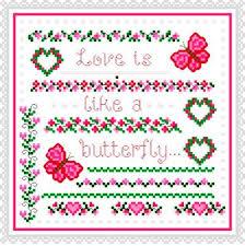 butterfly cross stitch pattern design and butterfly cross