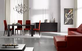 modern dining room with bench marble top table long rectangle