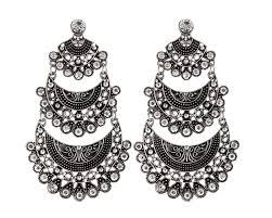 jhumkas earrings vintage party wear royal indian jhumkas silver earrings jhumkas