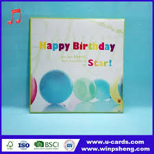 wholesale greeting cards china customized musical happy birthday greeting cards new design