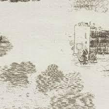 Rideaux Toile De Jouy Tissu D U0027ameublement à Motif En Coton Contract Toile De