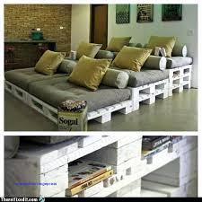 canapé lit palette terrasse en bois avec canape lit demontable vers canape lit
