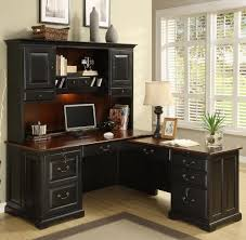 Computer Hutch With Doors L Shape Computer Workstation Desk With Hutch By Riverside