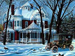 old fashioned santa christmas winter scenes free christmas and