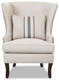 Accents Chairs Klaussner Chairs And Accents Transitional Krauss Wing Chair With