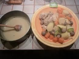 poulet en pot au feu et sa sauce blanche pascale c