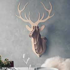 wooden deer wall trophy by clive roddy notonthehighstreet