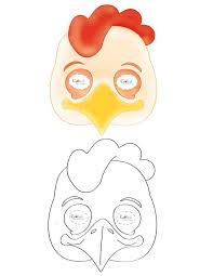 chicken mask template printable 28 images get the printable