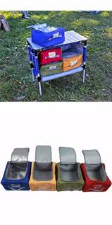 Portable Camping Kitchen Organizer - camping furniture 16038 foldable portable table 4 in 1 stand