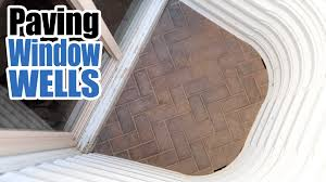 how to pave a basement window well egress brick cover youtube