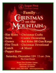 family christmas at sugar pine christian camp sierra news online