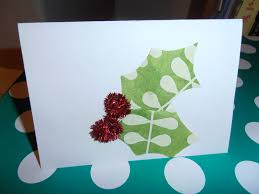 crafty free ideas for holly christmas card