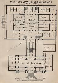 met museum floor plan metropolitan museum of art ground floor new york baedeker 1909