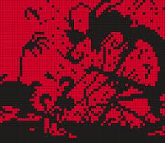grid pattern alpha johnny the homicidal maniac i m hooked panel square grid pattern
