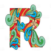 letter r for coloring vector decorative object illustration