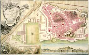 Plano Map Map Of The Plaza De Cartagena And His Arsenal 1799 Full Size