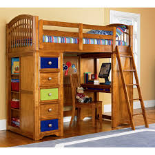 Stunning Twin Loft Bed With Desk And Dresser Wood Low Loft Bunk - Wood bunk beds with desk and dresser