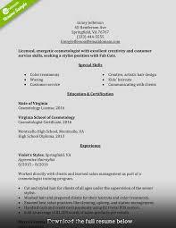 Cosmetology Resume Templates Download Cosmetology Resume Haadyaooverbayresort Com