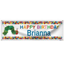 very hungry caterpillar ultimate party pack for 8 shindigz very hungry caterpillar personalized banner